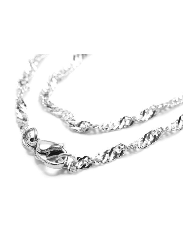 1pc Singapore Stainless Steel Chain Necklace Base