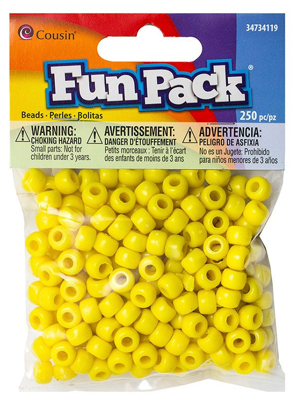 Cousin Fun Packs 250-Piece Red Pony Beads