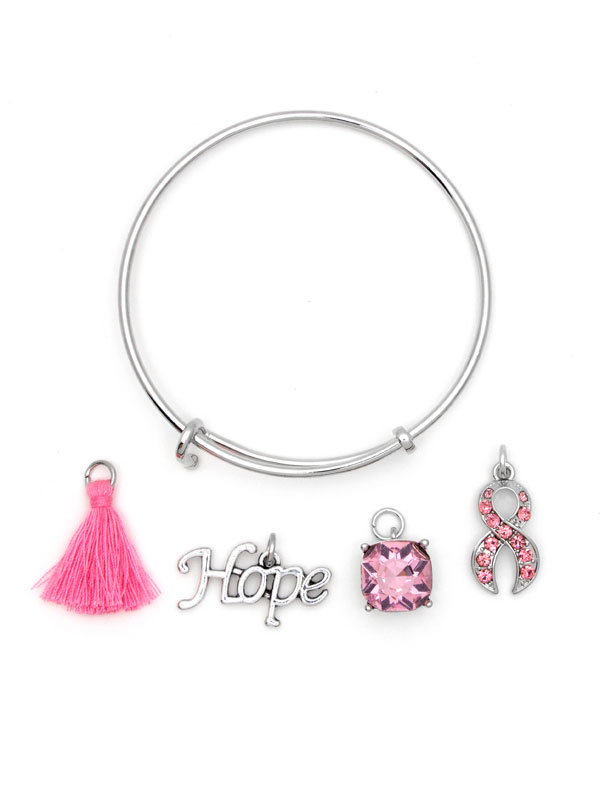 Create Your Own Bracelet Bangle Kit T Cancer Awareness