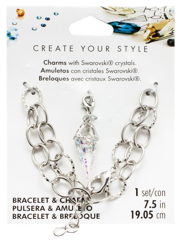 Swarovski Bracelet and Spike Pendant Charm